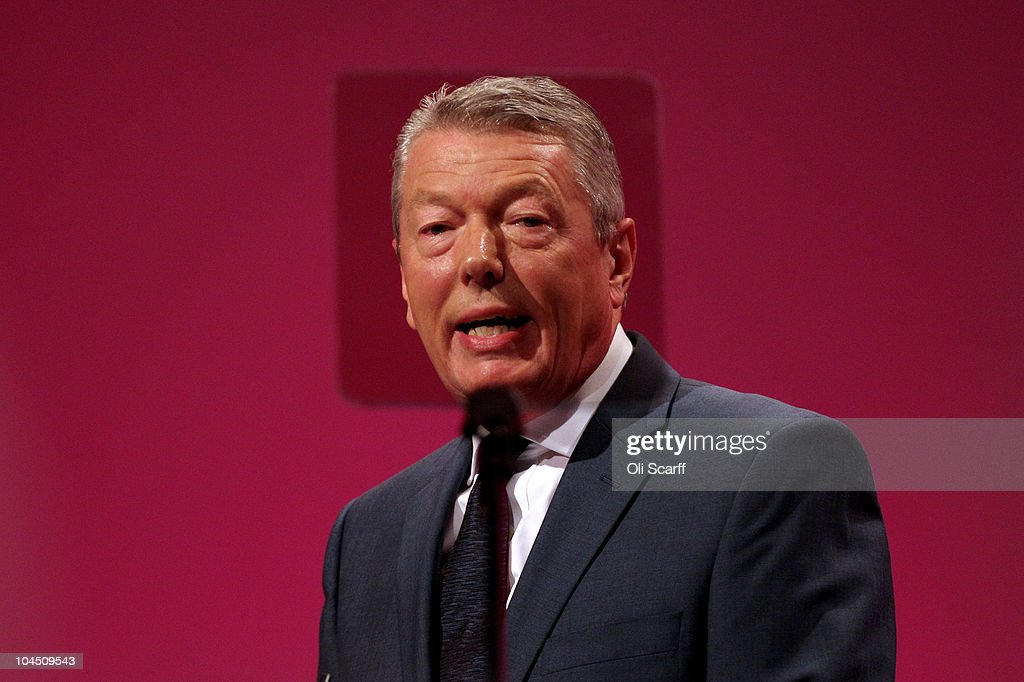 Shadow Home Secretary Alan Johnson addresses delegates on the third day of the Labour party conference at Manchester Central on September 28, 2010 in Manchester, England. The new Labour party leader Ed Miliband will today give his keynote speech to delegates where he is expected to offer a 'different ways' of doing politics.