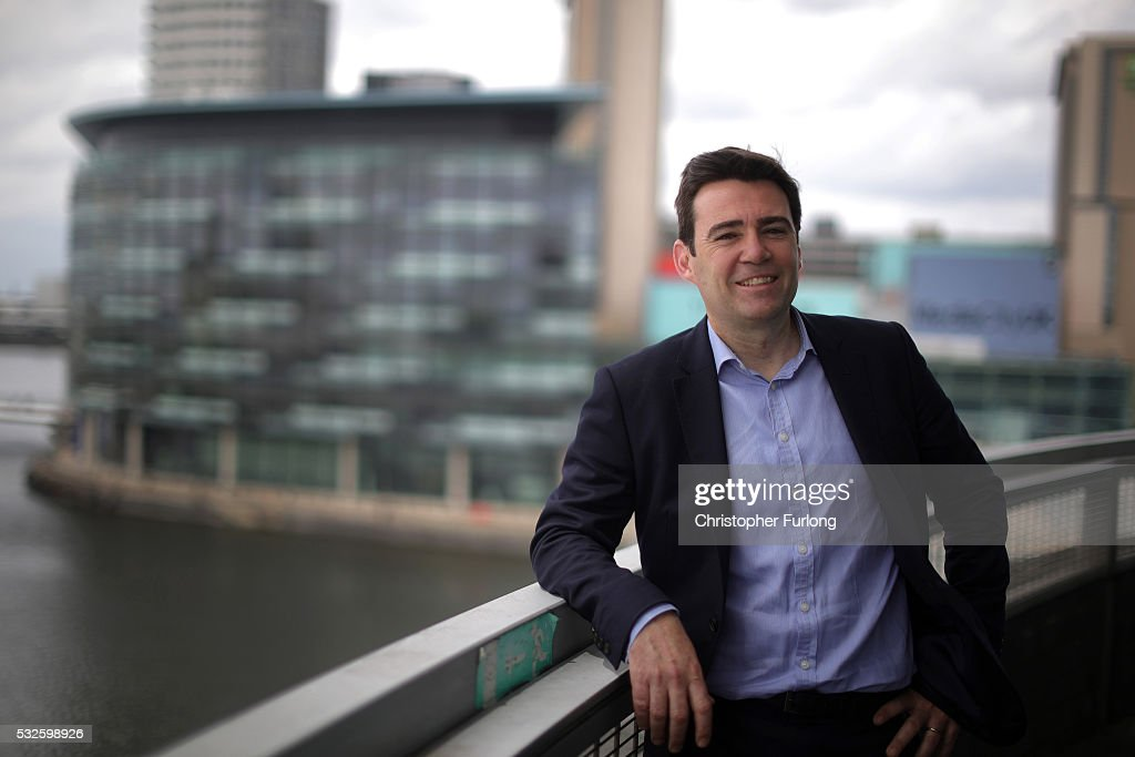 Shadow Home Secretary and Member of Parliament for Leigh <a gi-track='captionPersonalityLinkClicked' href=/galleries/search?phrase=Andy+Burnham&family=editorial&specificpeople=469823 ng-click='$event.stopPropagation()'>Andy Burnham</a> poses for a portrait as he launches his bid to become Mayor of Greater Manchester at The Lowry on May 19, 2016 in Salford, England. <a gi-track='captionPersonalityLinkClicked' href=/galleries/search?phrase=Andy+Burnham&family=editorial&specificpeople=469823 ng-click='$event.stopPropagation()'>Andy Burnham</a> will be competing against interim mayor and elected police and crime commissioner Tony Lloyd and Ivan Lewis, MP for Bury South. The election for the first mayor of Greater Manchester will take place in May 2017.