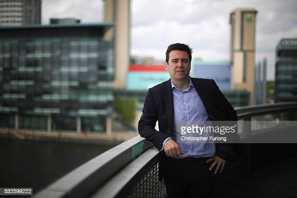 Shadow Home Secretary and Member of Parliament for Leigh Andy Burnham poses for a portrait as he launches his bid to become Mayor of Greater...