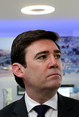 Shadow Home Secretary Andy Burnham launches the 'North West Labour In For Britain' campaign at Siemens UK on February 5 2016 in Manchester England...