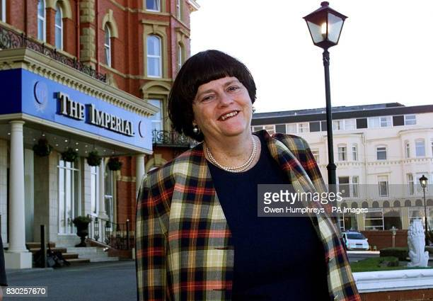 Shadow Home Secretary Ann Widdecombe leaves the Imperial Hotel in Blackpool en route to the Winter Gardens where she is due to make her key note...