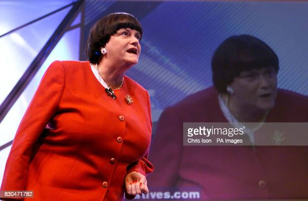 Shadow Home Secretary Ann Widdecombe speaks on the third day of the Conservative Party Conference in Bournemouth She declared war on drugs today with...