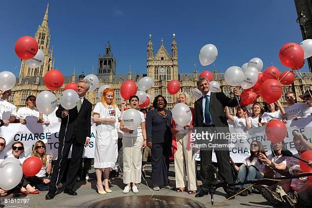 Shadow Home Secretary David Davis designer Dame Vivienne Westwood former terrorist suspect detainee Rizwaan Sabir Dianne Abbott MP actress Honor...