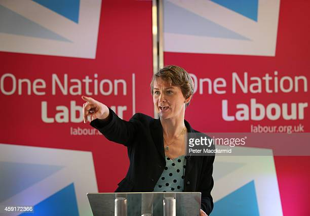 Shadow Home Secretary Yvette Cooper of the Labour Party speaks to supporters on November 18 2014 in London England The Labour Party has stated that...