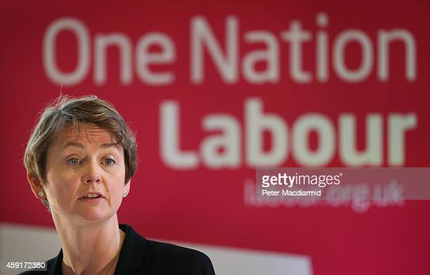 Shadow Home Secretary Yvette Cooper speaks to supporters on November 18 2014 in London England The Labour Party has stated that they would recruit a...
