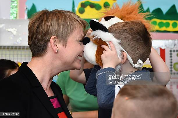 Shadow Home Secretary Yvette Cooper today launched Scottish Labour's Women's Manifesto at coconut corner nursery where she was joined by Labour's...