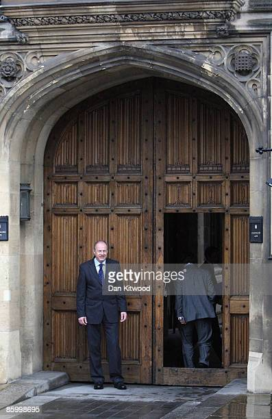 Shadow Immigration Minister Damian Green leaves College Green after giving a statement to the press on April 16 2009 in London England Mr Green was...