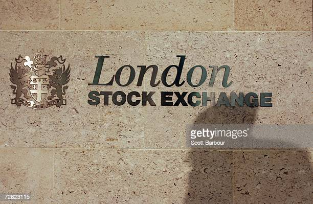 A shadow is cast on the wall inside of the London Stock Exchange on November 22 2006 in London England The London Stock Exchange was founded in 1801...