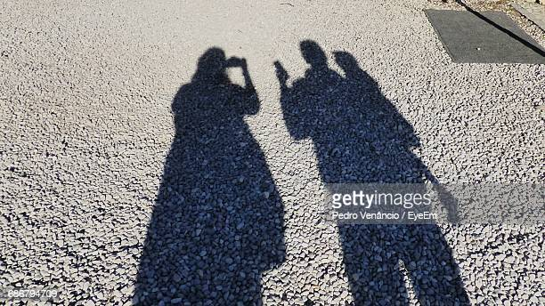 Shadow Of Family On Street During Sunny Day