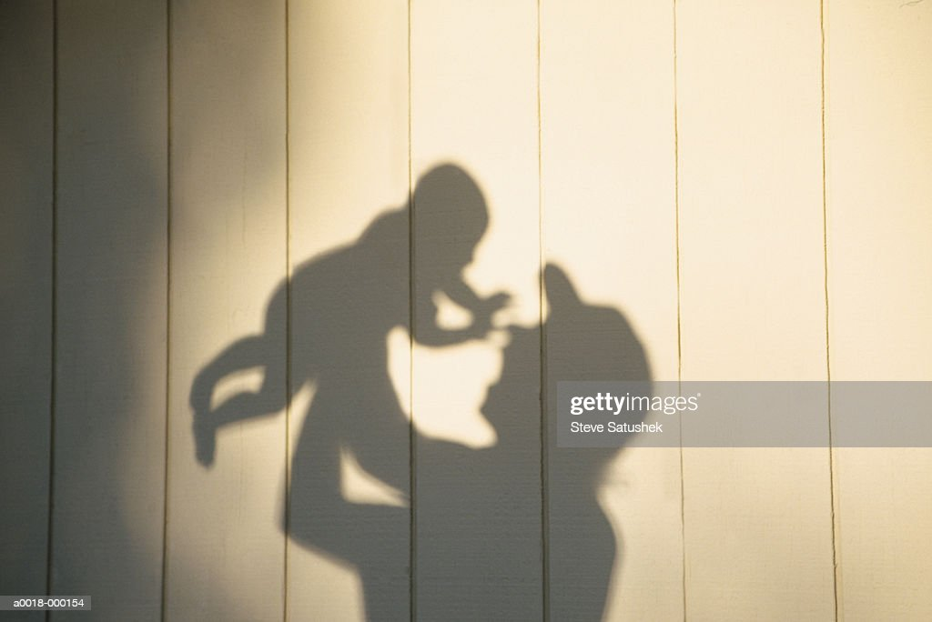 Shadow of Father and Child : Stock Photo