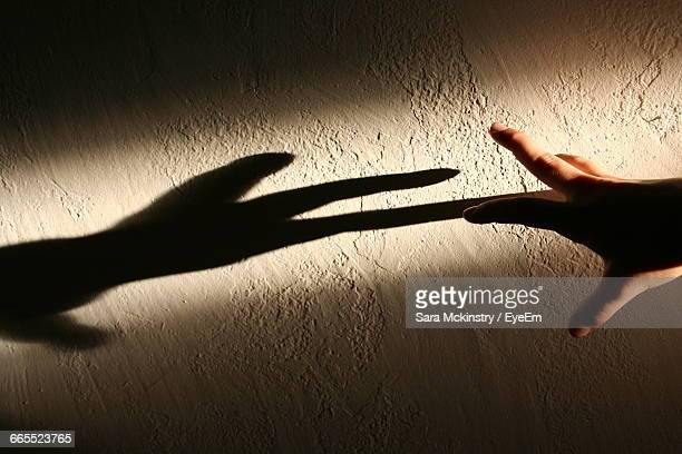 Shadow Of Hand On The Wall