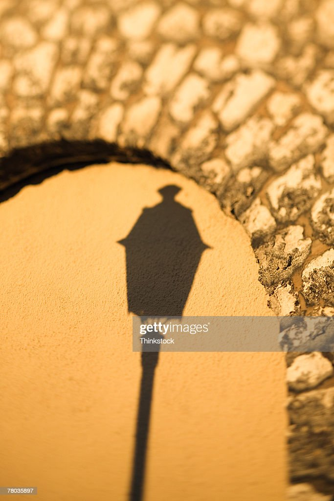 Shadow of lamppost, Paris : Stock Photo