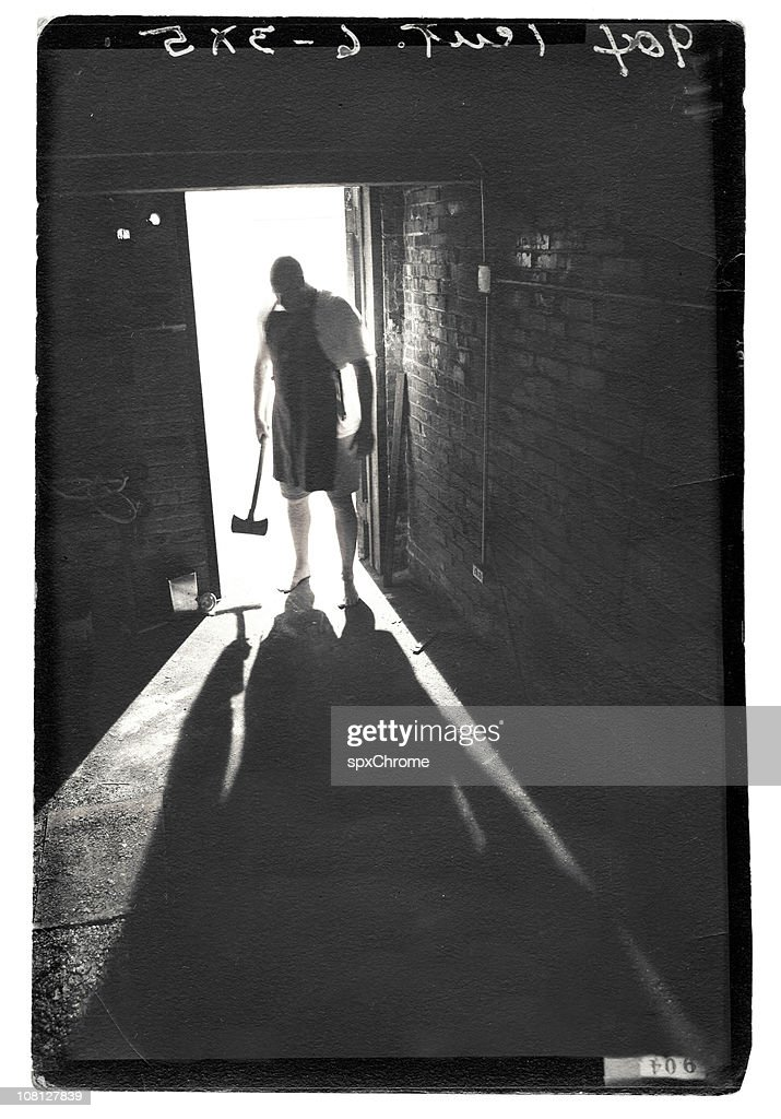 Shadow of Madman : Stock Photo