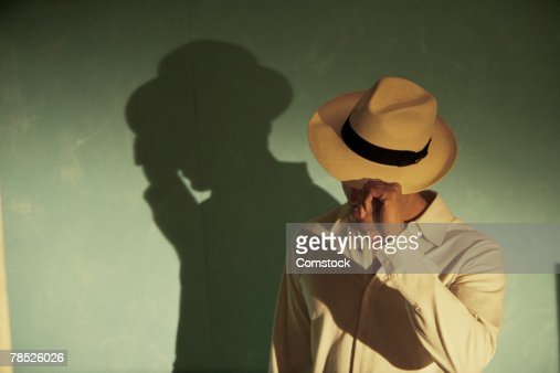 Shadow of man in hat