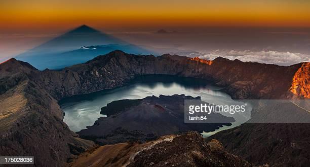 Shadow of Rinjani peak