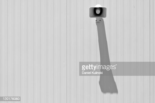 Shadow of speaker : Stockfoto