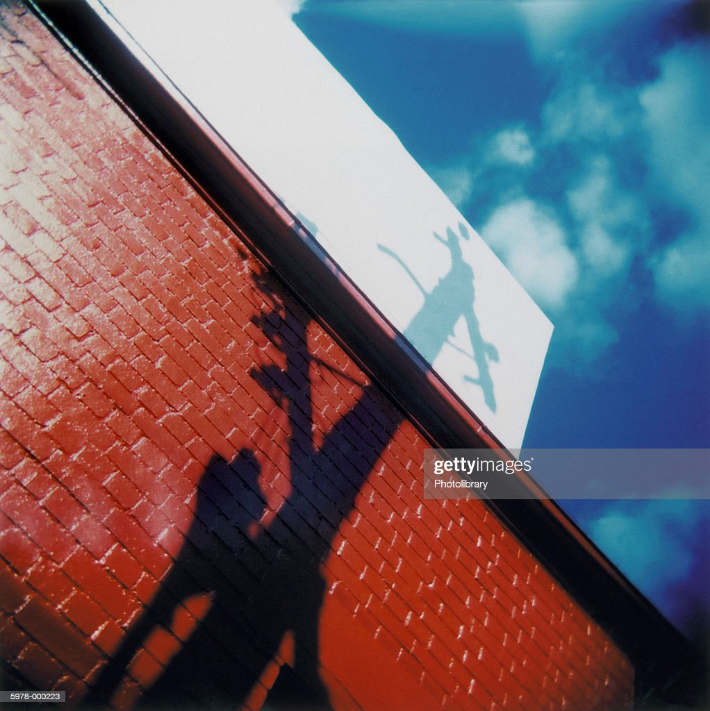 Shadow of Telephone Pole : Stock Photo