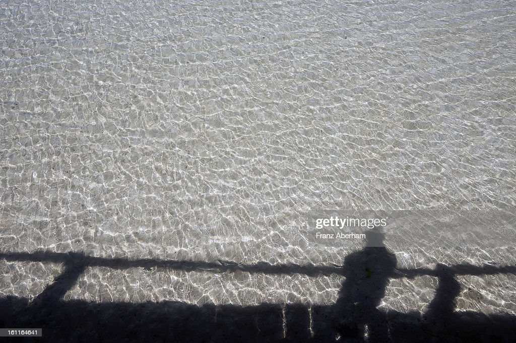 Shadow on water : Stock Photo