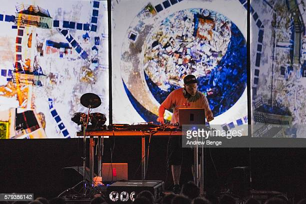 Shadow performs on the Orbit stage during day 2 of BlueDot Festival 2016 at Jodrell Bank on July 23 2016 in Manchester England