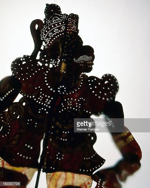 A shadow puppet of the monkey god Hanuman a key character in the Hindu epic the Ramayana India Hindu 19th century