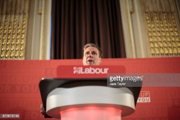 Shadow Secretary of State for Exiting the European Union Sir Keir Starmer delivers a speech on Labour's Brexit policy at the Institute of Civil...