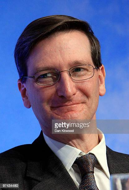 Shadow Secretary of State for Justice Dominic Grieve speaks to delegates at the Conservative Party Spring Conference on February 28 2010 in Brighton...