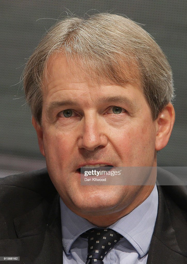 Shadow Secretary of State for Northern Ireland Owen Paterson speaks at the Conservative Party Conference on October 8 2009 in Manchester England...