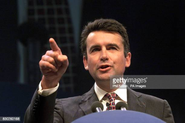 Shadow Transport Minister Bernard Jenkin makes a point during his address to the Conservative Party conference * 20/9/2000 A row broke out over the...