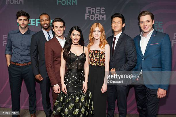 'Shadowhunters' cast members Matthew Daddario Isaiah Mustafa Alberto Rosende Emeraude Toubia Katherine McNamara Harry Shum Jr and Dominic Sherwood...