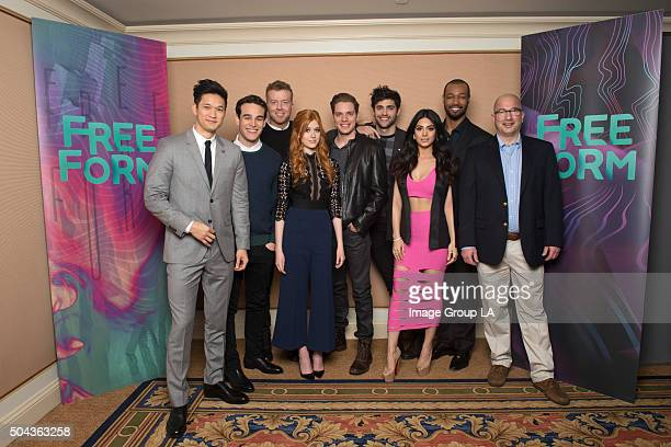 TOUR 2016 'Shadowhunters' The cast and executive producers of 'Shadowhunters' at Disney | ABC Television Group's Winter Press Tour 2016 HARRY SHUM JR...