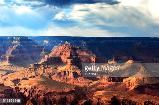 Shadows and Light in South Rim, Grand Canyon National Park : Stock Photo