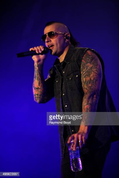 M Shadows from Avenged Sevenfold performs at Columbus Crew Stadium on May 17 2014 in Columbus Ohio