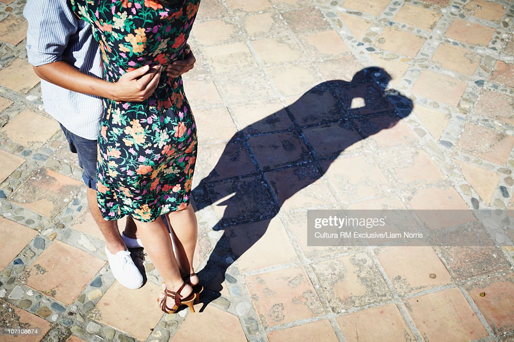 Shadows kissing : Stock Photo
