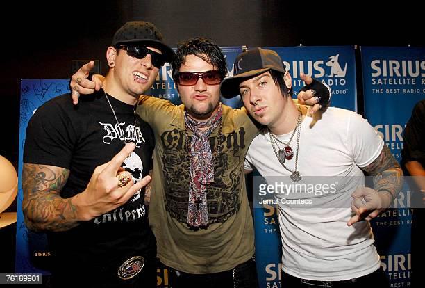 M Shadows of Avenged Sevenfold Bam Margera of Jackass and Zacky Vengeance of Avenged Sevenfold