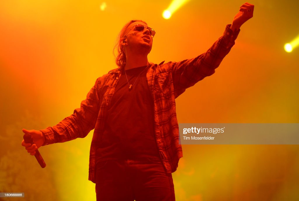 <a gi-track='captionPersonalityLinkClicked' href=/galleries/search?phrase=M.+Shadows&family=editorial&specificpeople=560464 ng-click='$event.stopPropagation()'>M. Shadows</a> of Avenged Sevenfold performs as part of the Aftershock Music Festival at Discovery Park on September 15, 2013 in Sacramento, California.
