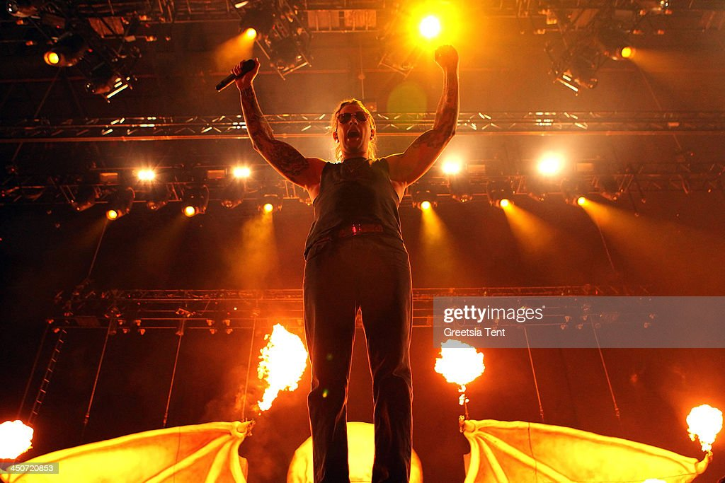 M. Shadows of Avenged Sevenfold performs at the Ziggo Dome on November 19, 2013 in Amsterdam, Netherlands.