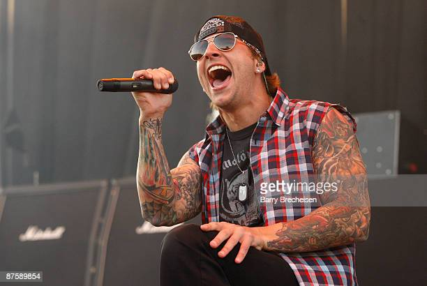 M Shadows of Avenged Sevenfold performs during the 2009 Rock On The Range festival at Columbus Crew Stadium on May 17 2009 in Columbus Ohio