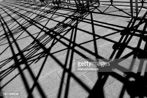 shadows of scaffolding