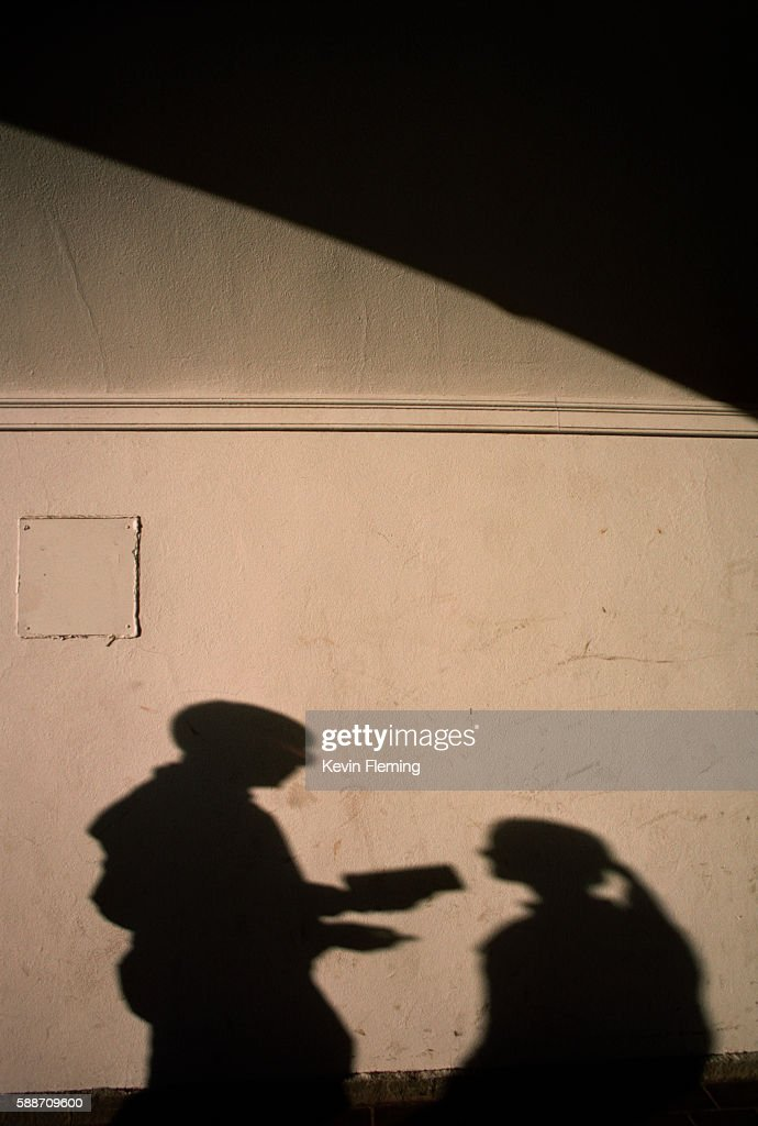 Shadows of Students on Wall