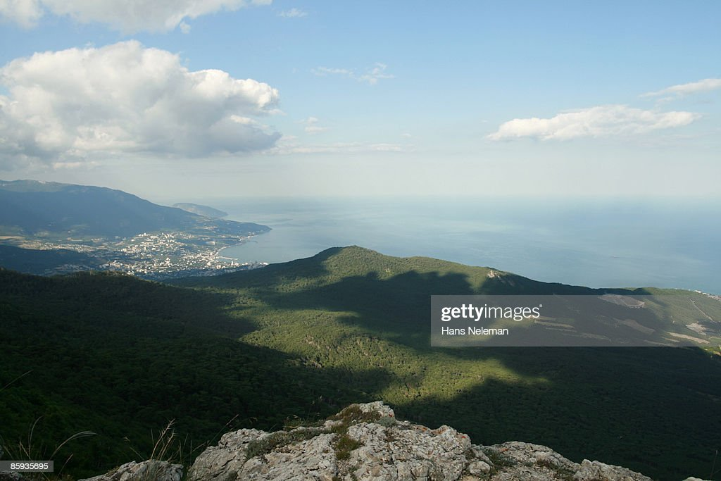 Shadows of the clouds, Crimea, Ukraine : Stock Photo
