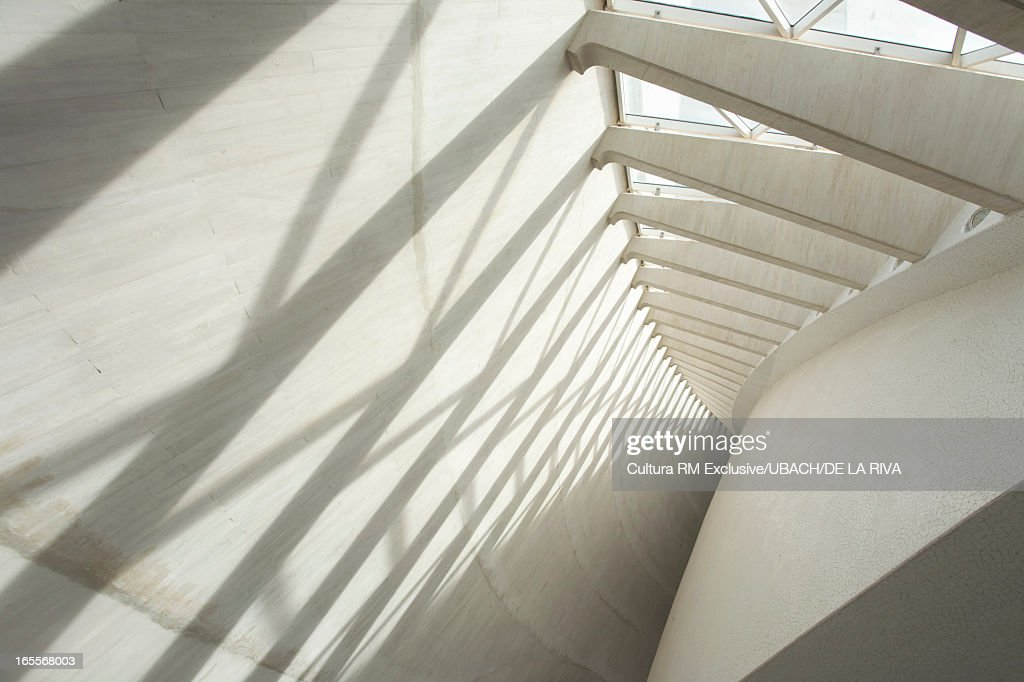 Shadows on modern wall : Stock Photo
