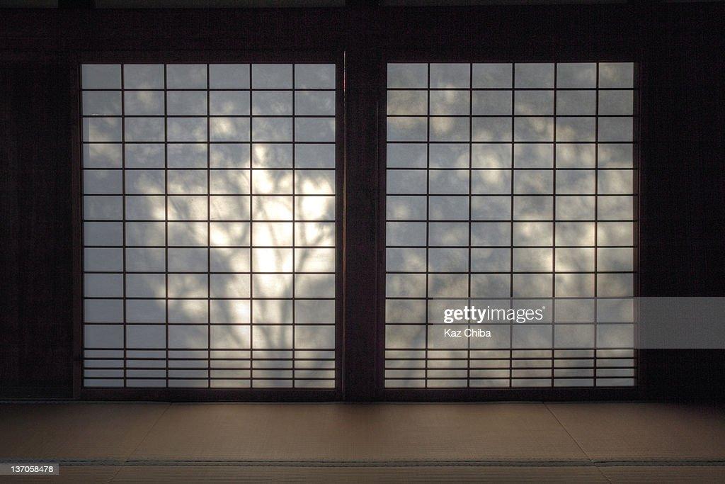 Shadows On Shoji Screen Stock Photo Getty Images