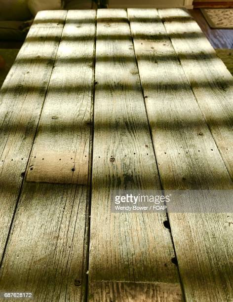 Shadows on wood table