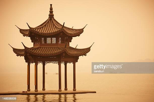 shady bower  on lake Xihu