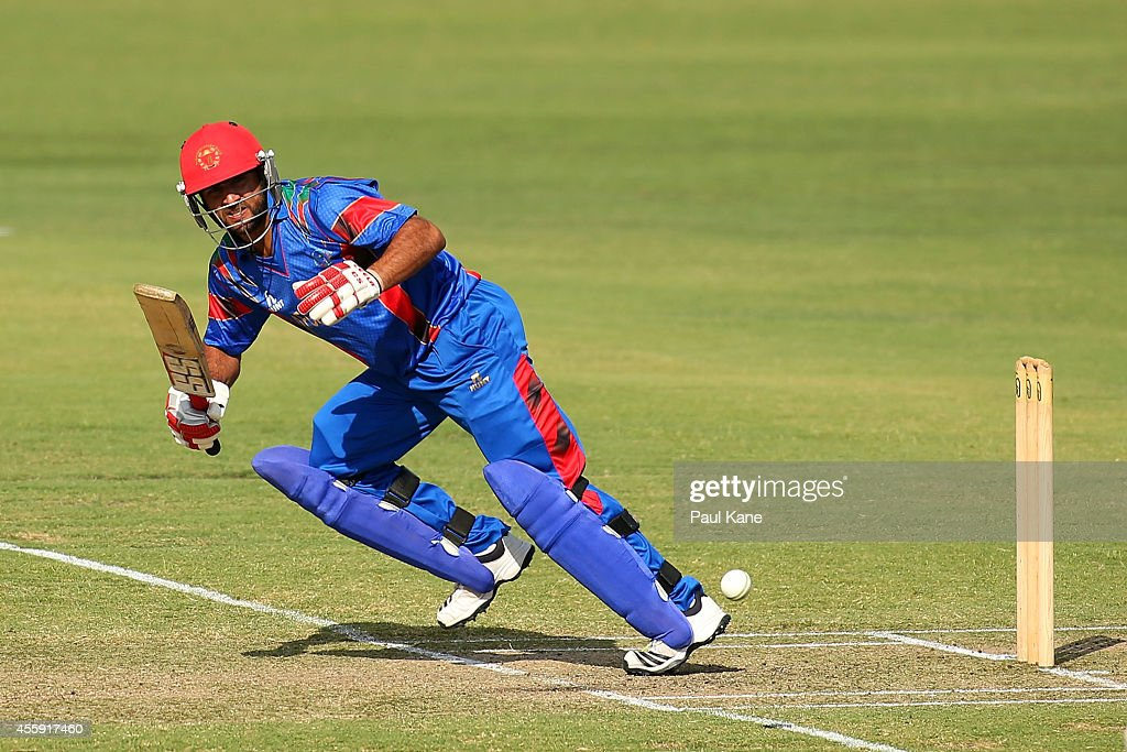 Shafiqullah Shafaq of Afghanistan bats during the One Day tour match between the Western Australia XI and Afghanistan at the WACA on September 22, 2014 in Perth, Australia.