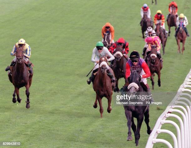 Shaft of Light with Mr Andrew Balding up goes on to win The Moet Chandon Silver Magnum from eventual 2nd Brandon Magic with Mr C Bonner up at Epsom...