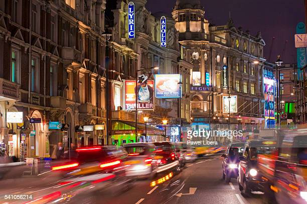Shaftesbury Avenue in London's theater district