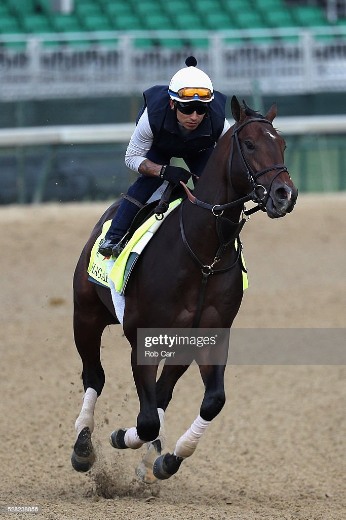 Shagaf trains on the track for the Kentucky Derby at Churchill Downs on May 04, 2016 in Louisville, Kentucky.