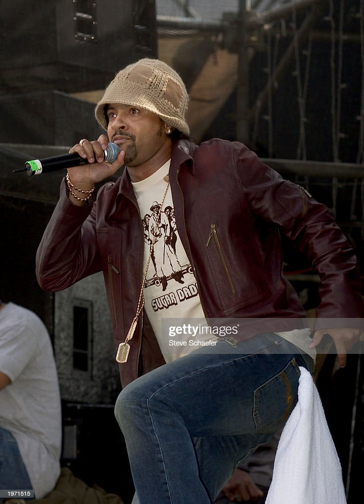 Shaggy performs May 3, 2003 during the Music Midtown concert in Atlanta, Georgia. The Music Midtown event features over 120 international, national and local musical acts performing on 11 stages over a 3-day period on a 40 acre complex.
