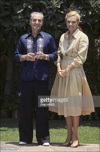Shah of Iran and Empress Farah Pahlavi on exile in Mexico in 1979